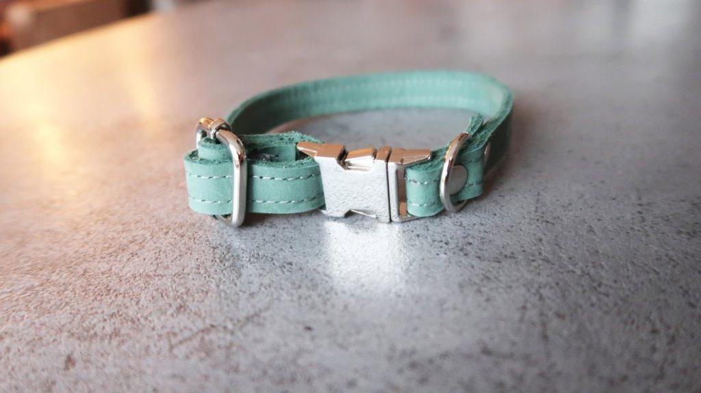 Honden halsband leger groen